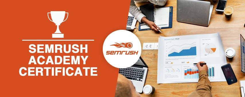 Certificat SEMrush SEO Toolkit