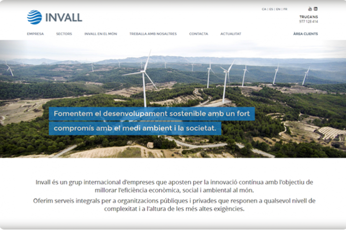 Invall web corporatiu