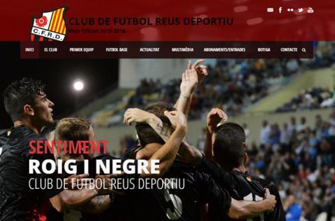 Disseny web CF Reus Deportiu