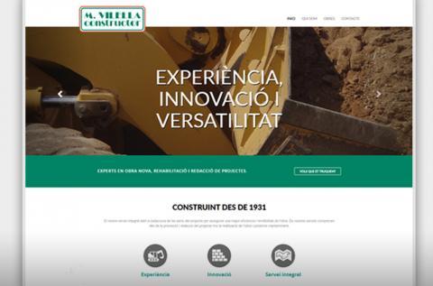 Web corporativa de M.Vilella Constructor