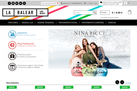 desenvolupament web perfumes la balear