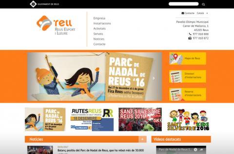 Diseño web Reus Esport i Lleure
